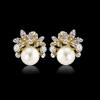 Athena Pearl Button Burst Stud Earrings