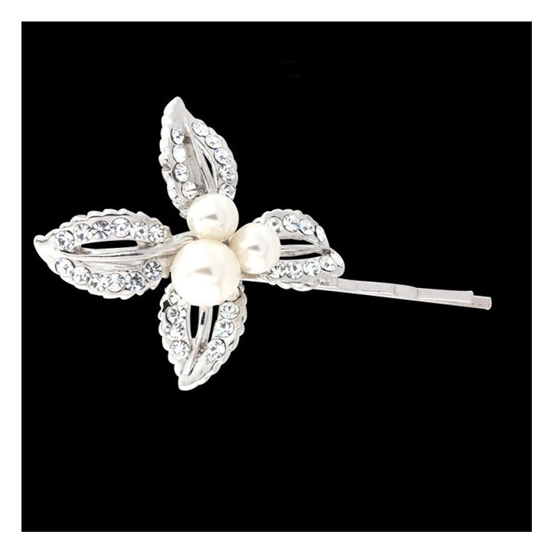 Jenna Classic Floral Pearl Clip