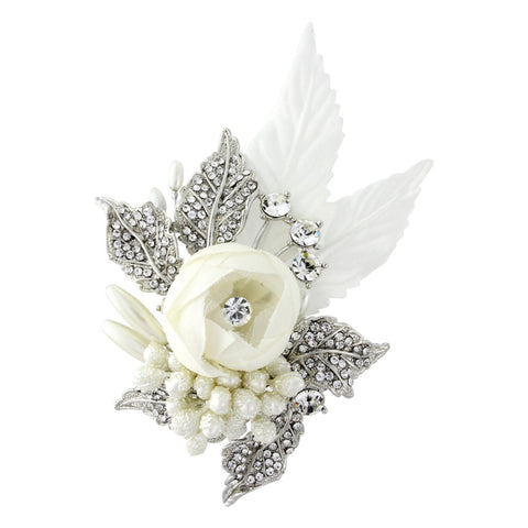 Rowan Beaded Lace Applique Bridal Hair Comb