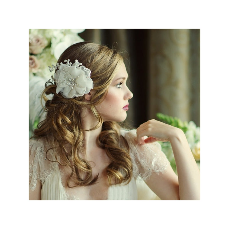 Verity Crystal Flower Hairpiece