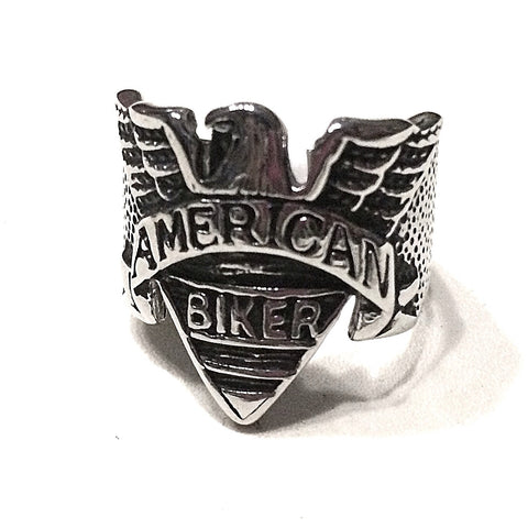 American Biker RIng in Stainless Steel