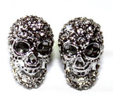Sparkle Skull Stud Earrings in Stainless Steel
