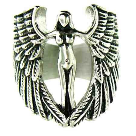 Angel Wing Angel Stainless Steel Ring