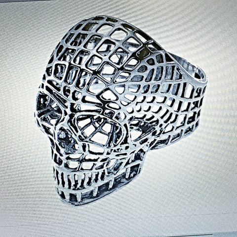 GREAT UNIQUE MESH SKULL In Stainless Steel