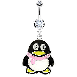 Cutedt Penquin You've ever Seen Belly Ring!