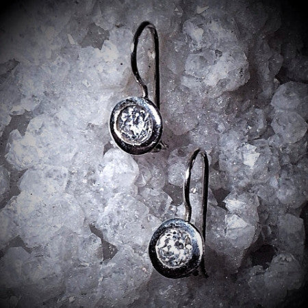 Crystal Drop Earrings, Designer made in Sterling Silver womens style
