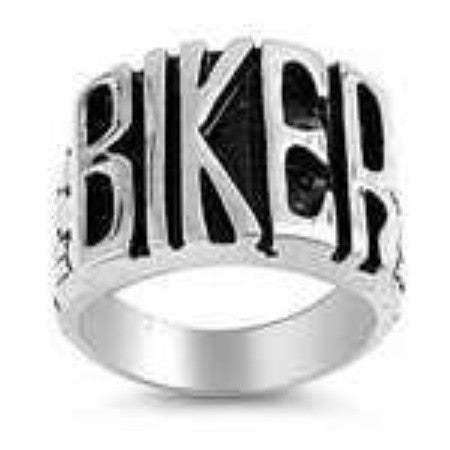 BIKER RING! IN Stainless Steel Larger Men's Style