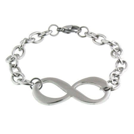 Infinity bracelet in Stainless Steel. Chain Bracelet.