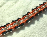 Mini Mini Orange & Black Sparkle Chain Bracelet New Tennis