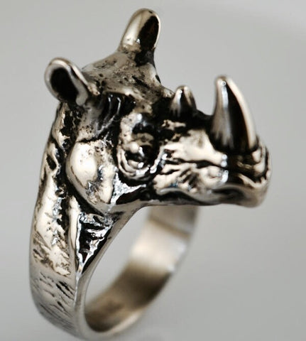 Rhino Ring In Stainless Steel