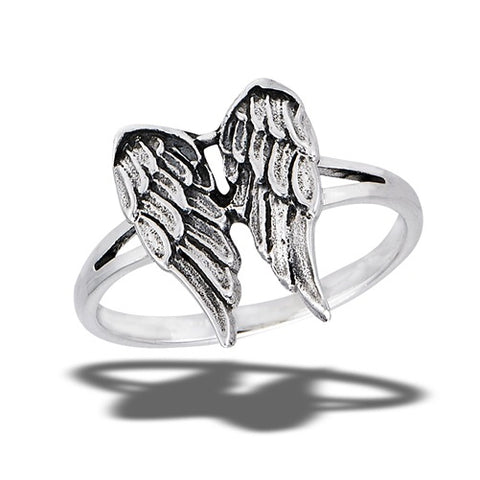 Angel Wings Sterling Silver Ring