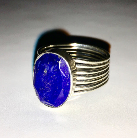 Amazing Blue Lapis and Sterling Silver Ring