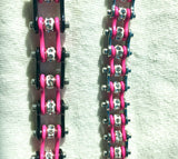 NEW MINI MINI Pink & Stainless Steel Chain Bracelet