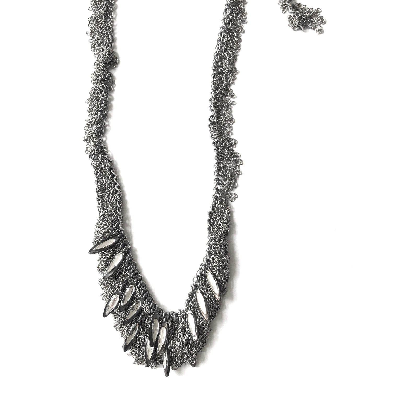 Fringe Steel With Crystal Beads