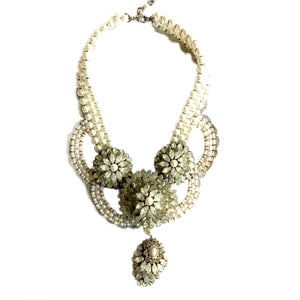 Swarovski Crystals and Pearls Statement Necklace