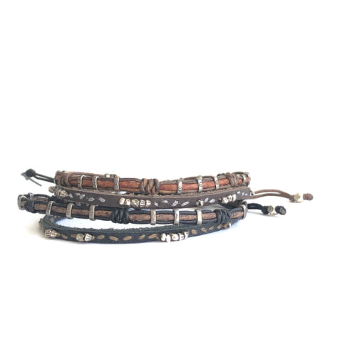 Men's Layering Leather Bracelet