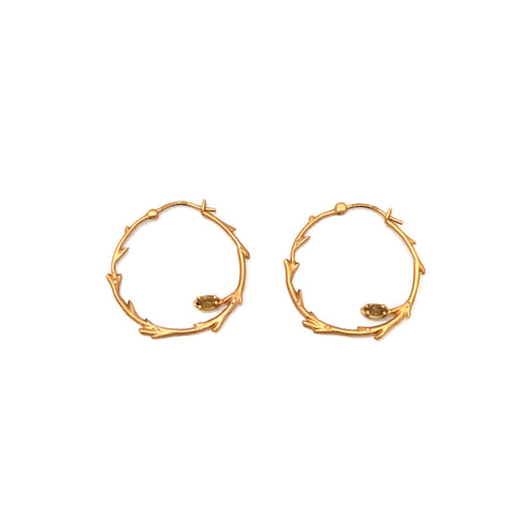 18K Gold Birch Hoop