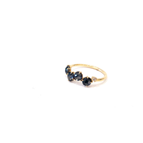 14K Suzanne Kalan Black Quartz Ring