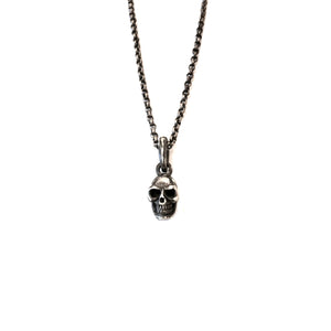 Men's Silver Skull Necklace