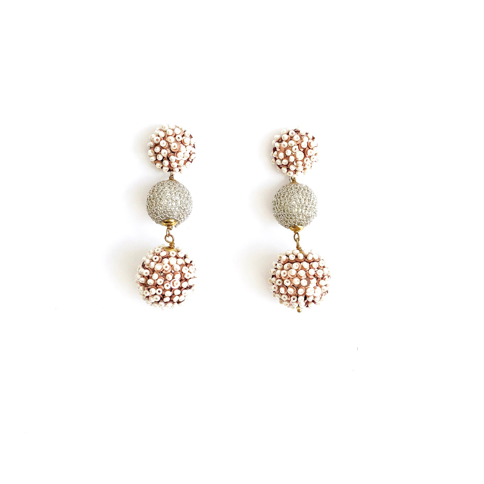 Drop Seed Pearl Earrings