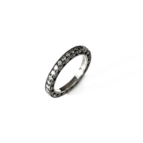 Pave Diamonds on White Gold