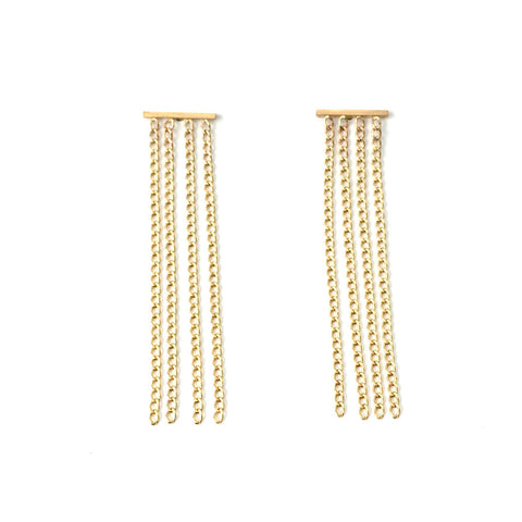 14K Gold Filled Fringe Earrings