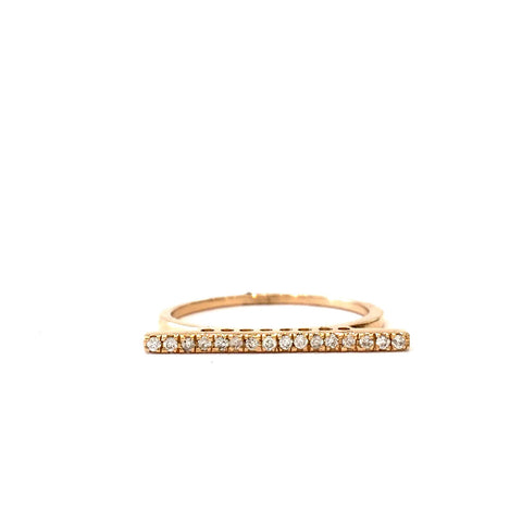 14k Diamonds Bar Ring