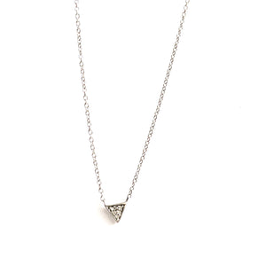 Adina Reyter Triangle Pave Necklace