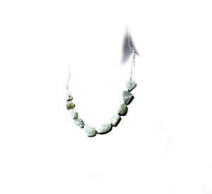 Aquamarine on Silver Chain