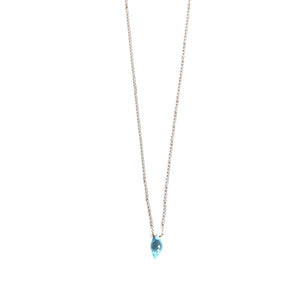 Blue Topaz White Gold