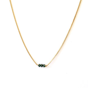 Blue Diamonds 10K Gold