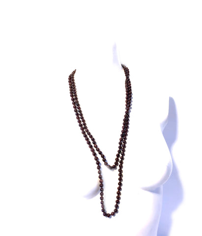 Long Garnet Necklace