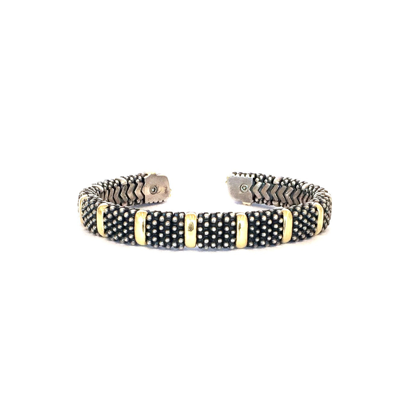 Lagos Gold and Sterling Silver Cuff