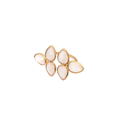 Moonstones Double Ring