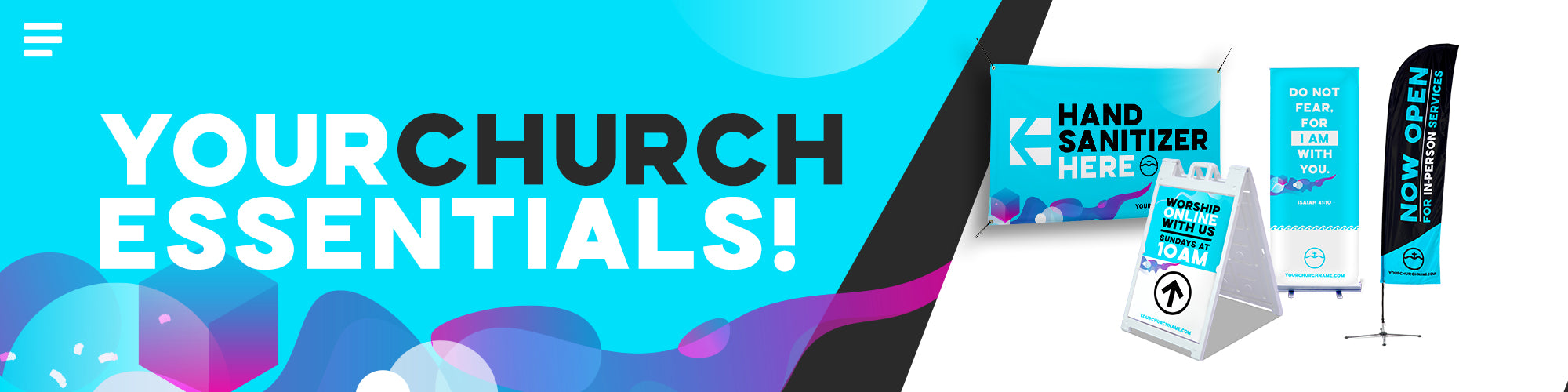 Church Display Landing Page