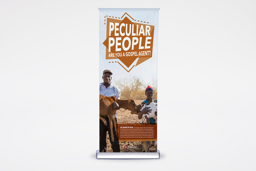 Peculiar People | English & Spanish | Premier Retractable - BestFlag.com