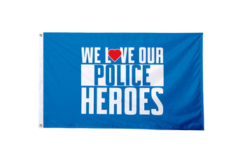 We Love Our Police Heroes Flag - BestFlag.com