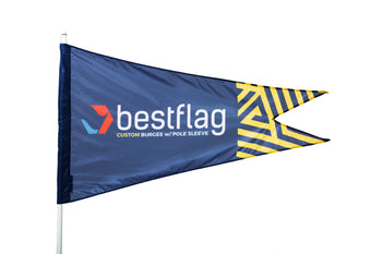 Custom Burgee Flag with Pole Sleeve - BestFlag.com