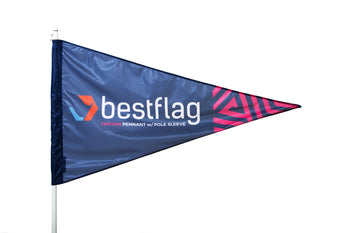 Custom Pennant Flag with Pole Sleeve - BestFlag.com