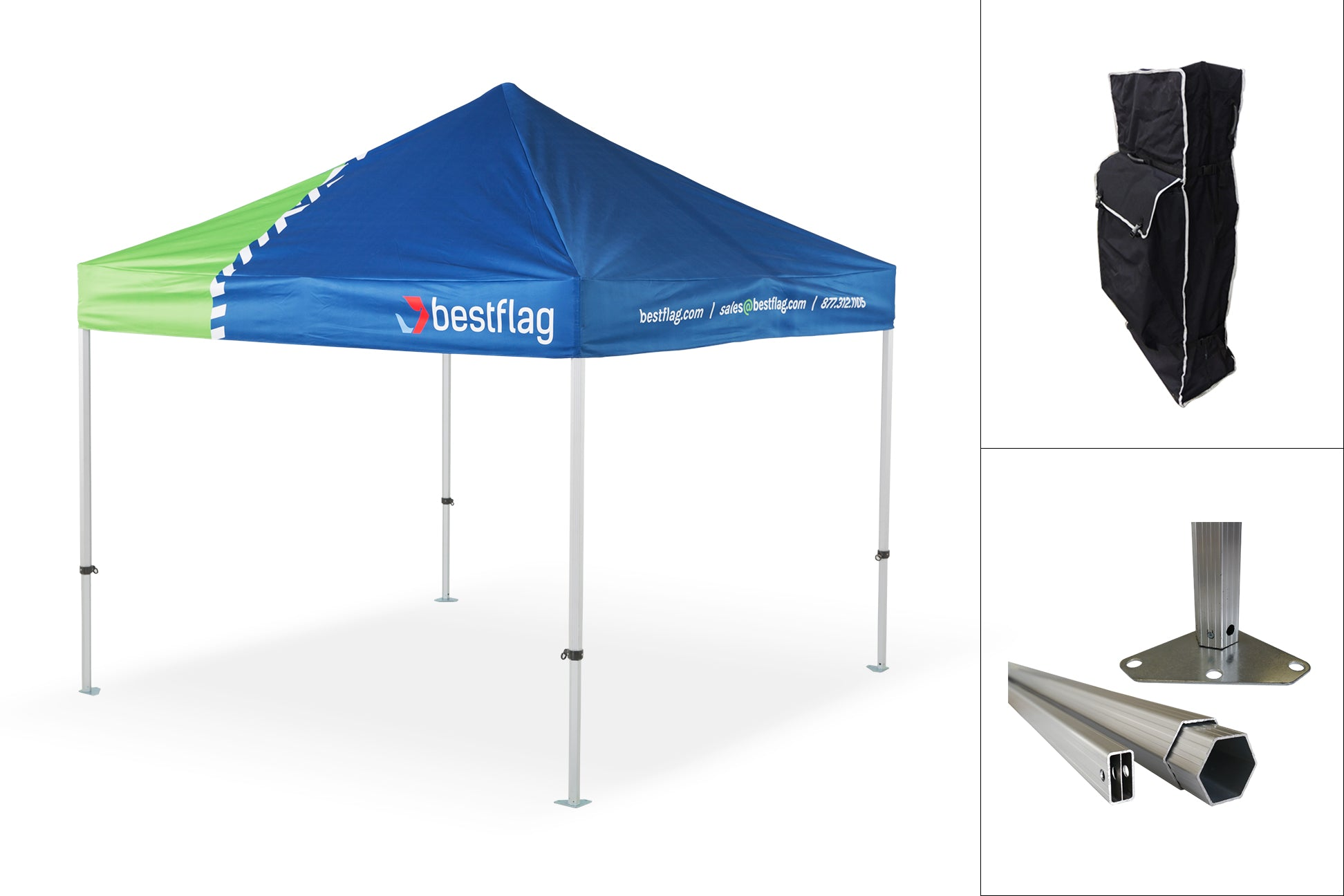 Heavy Duty Durable Pop Up Event Canopy Frame - The Tank - BestFlag.com