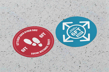 Custom Social Distancing Floor Stickers - BestFlag.com