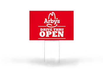 Arby's Drive Thru Open Yard Sign - BestFlag.com