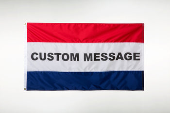 Horizontal Striped Message Flag