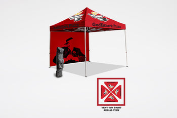 Godfather's Pizza | Tent Kit with Back Wall - BestFlag.com