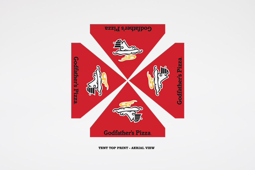 Godfather's Pizza | Tent Top Print - BestFlag.com