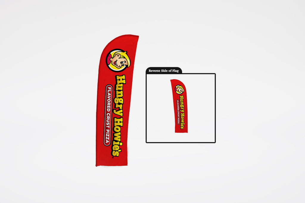 Hungry Howie's | Red Blade Flag w/ Logo (Print Only)