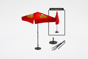 Hungry Howie's | 4 Panel Patio Umbrella Kit - BestFlag.com