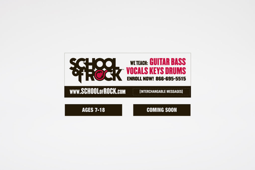 """We Teach"" w/ School of Rock Logo"