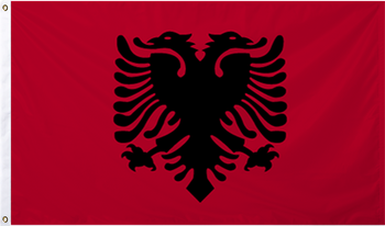 Albania International Flag