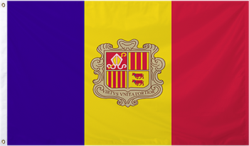 Andorra International Flag